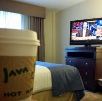 Java in hotel room prehockey game back in Gwinnett