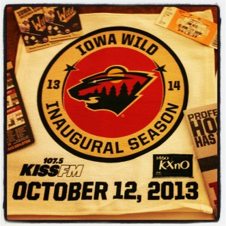 Iowa Wild giveaways for opening weekend.