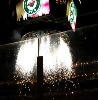 Opening night pyrotechnics for Iowa Wild