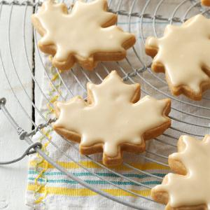 Glazed Maple Shortbread Cookies Taste of Home